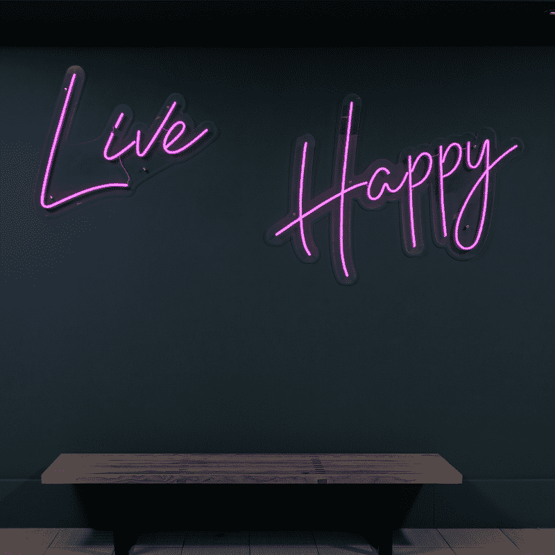 Live Happy Violet text